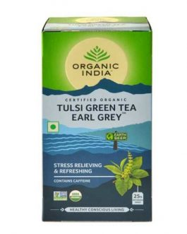 Tulsi Green Tea Earl Grey 25 Teabags Box